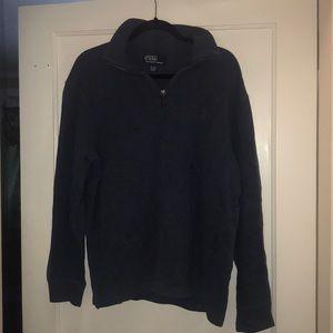Polo men's 1/4 zip front pullover sweatshirt
